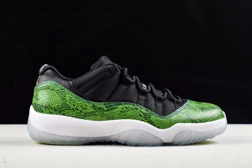 Air Jordan11 Low Green Snakeskin 528895-033